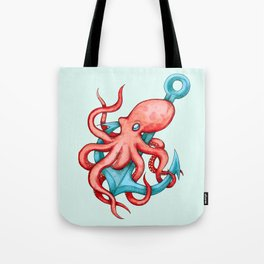 Octopus & Anchor Tote Bag