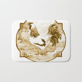 Rooster Provencal trois Whiskey Bath Mat