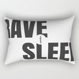 Rave Sleep Repeat Rectangular Pillow