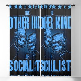 """Vintage Poster """"The Other Kind of Socialist"""" Alcoholic Lithograph Advertisement in dark blue Blackout Curtain"""