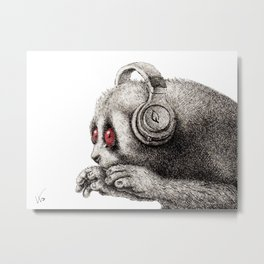 DJ SLOW LORIS Metal Print