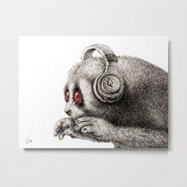 DJ SLOW LORIS Metal Print