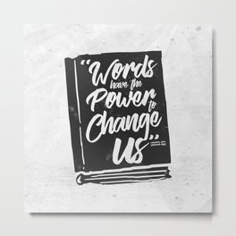 Words Have Power - Clockwork Princess Metal Print
