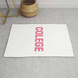 Colege - Pink Misspell Rug