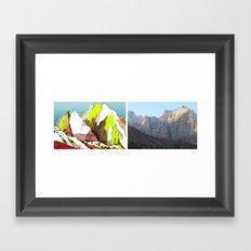 Zion Mountains Framed Art Print