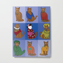 The Nine Lives of Felis Catus Metal Print