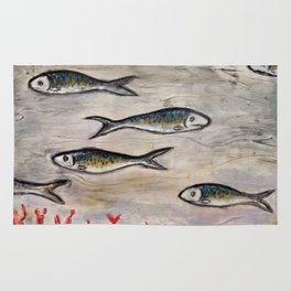 "Sardines ""Go Your Own Way""  Rug"