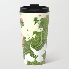 Leaf Bird Metal Travel Mug