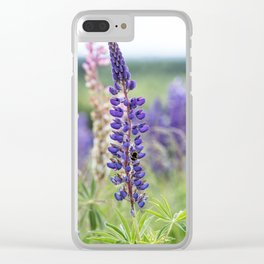 Colorful lupines Clear iPhone Case