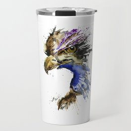 Golden Eagle - Colorful Watercolor Painting Travel Mug