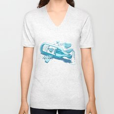 The Late Party Bird Gets the Worm Unisex V-Neck