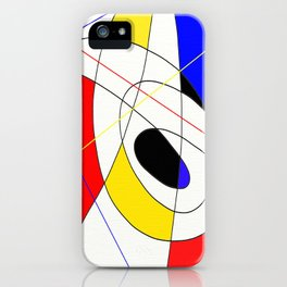 Incomplete Primary - Red, yellow, black, white, blue abstract artwork iPhone Case