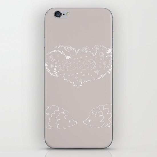 Hedgehogs in love iPhone & iPod Skin