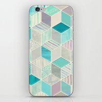 bedding iPhone & iPod Skins featuring Vacation Patchwork by micklyn