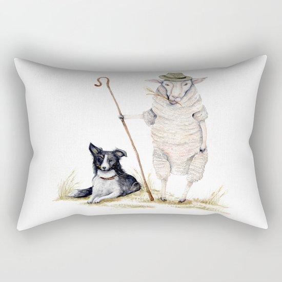 Sheepherd Sheep Rectangular Pillow