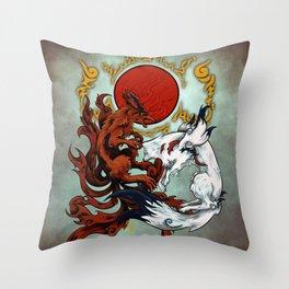 Kurama & Amaterasu Galaxy Throw Pillow