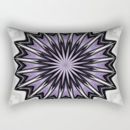 Ultra Violet Silver and Lilac Abstract Kaleidoscope Pattern Rectangular Pillow