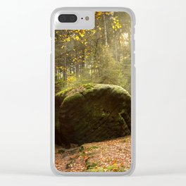 Large Boulder in Elbe Sandstone Mountains Clear iPhone Case