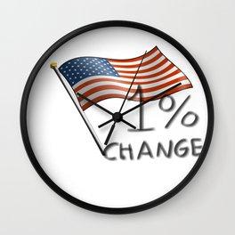 One Percent Change Wall Clock