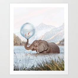 In a Bubble Art Print