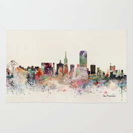 san francisco skyline Rug