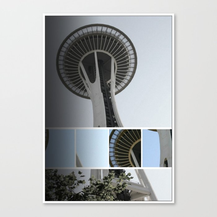 Seattle Space Needle Mosaic Canvas Print by Christine aka stine1 on Society6