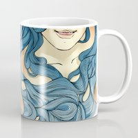 aqua Mugs featuring Aqua by saravidigal