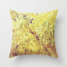 yellow flower - Forsythia Throw Pillow