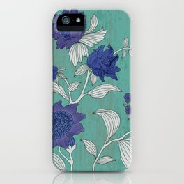 Folk Flower's Branch iPhone Case