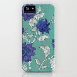Folk Flower's Branch iPhone Case