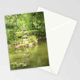 Pond at the Japanese Tea Garden in San Francisco Stationery Cards