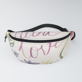 watercolor card Fanny Pack