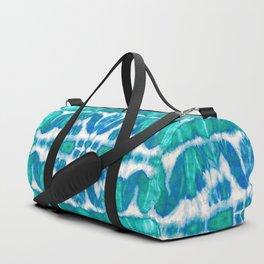 Tie-Dye Twos Aqua Duffle Bag