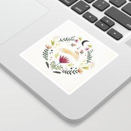 Floral Rabbit Pattern Sticker
