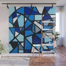 Blue Geometric Wall Mural