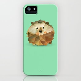 Low Poly Hedgehog iPhone Case