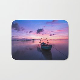 Rowboat and Sunrise on the Water Bath Mat