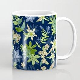 Alpine Flowers Blue - Gentian, Edelweiss Coffee Mug