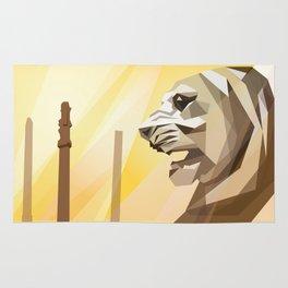 persepolis lion Rug