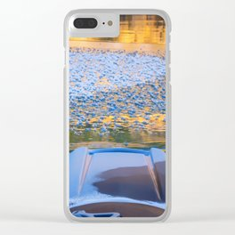 Beauty on Ice kayaking on McCloud Reservoir Clear iPhone Case