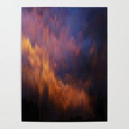 Melting Sky Mosaic Poster