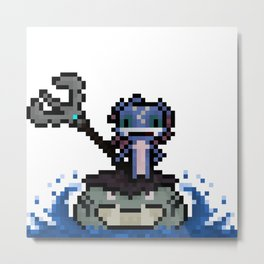 Fizz, The Pixel Trickster Metal Print