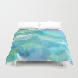 Breathing Under Water Duvet Cover