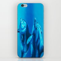dolphin iPhone & iPod Skins featuring Dolphin by Bocese