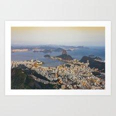 Beautiful Rio de Janeiro at sunset Art Print