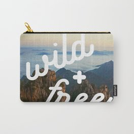 wild + free (mountains) Carry-All Pouch