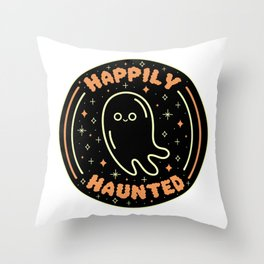 Happily Haunted Throw Pillow