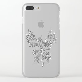 White Phoenix Clear iPhone Case