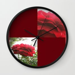 Red Rose with Light 1 Blank Q10F0 Wall Clock
