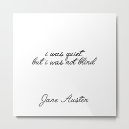 i was not blind Metal Print